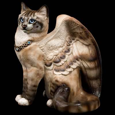 Large Bird-Winged Flap Cat - Lynx Point Siamese