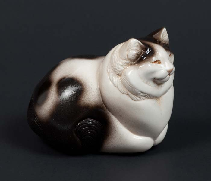 Fat Cat - Black and White