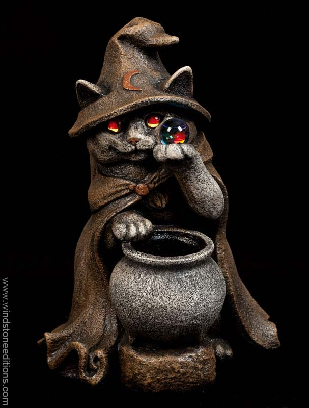 Wizard Cat Candle Lamp