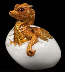 Copper Gold Hatching Empress Dragon by Windstone Editions