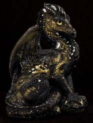Baroque Black Male Dragon by Windstone Editions