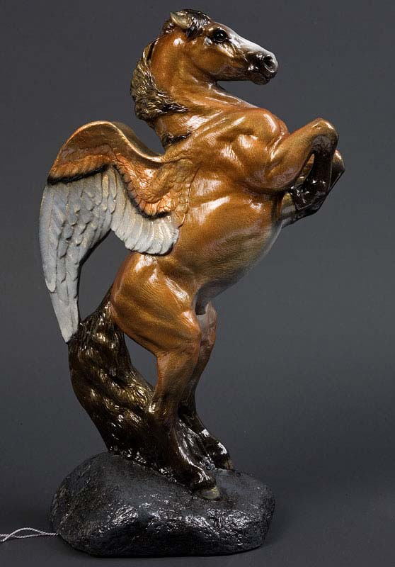 Golden Copper Male Pegasus by Windstone Editions